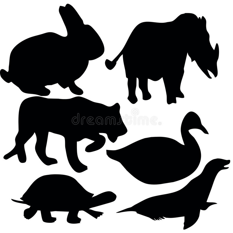 Animalsymbols ilustração royalty free