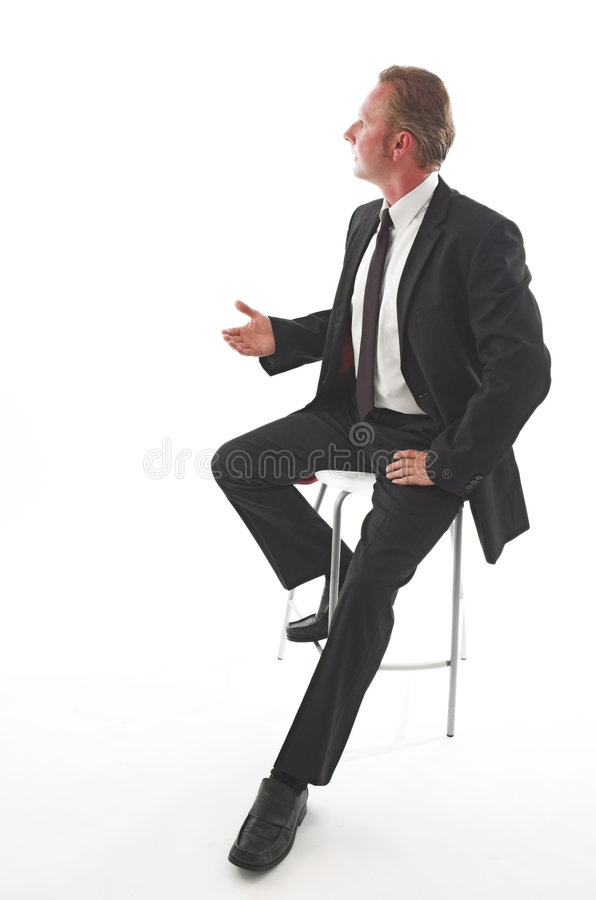 animated black man suit στοκ εικόνες με δικαίωμα ελεύθερης χρήσης