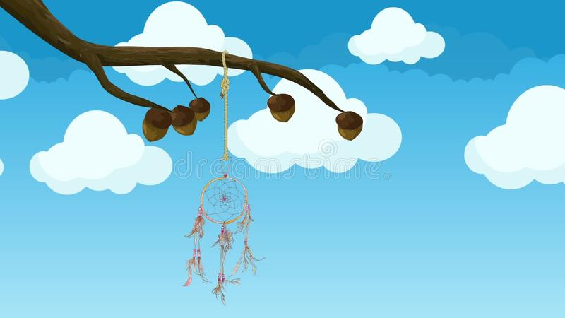 Animated Dream Catcher Hanging From A Tree Branch Moving In The Wind Classy Animated Dream Catcher