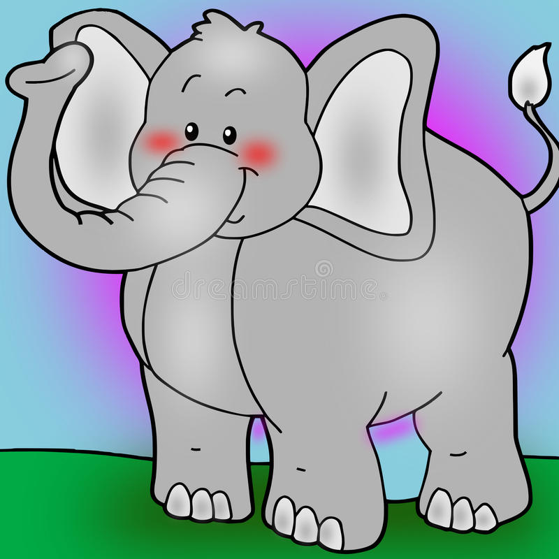 Animated elephant royalty free stock images