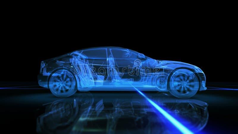 Animation abstraite de la voiture 3D image libre de droits