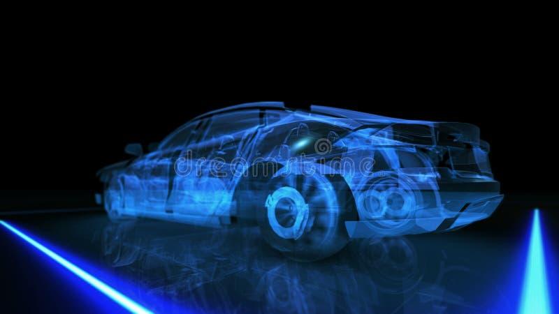 Animation abstraite de la voiture 3D photos libres de droits