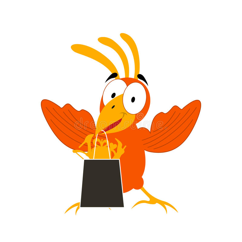 Animation a bird2 royalty free illustration