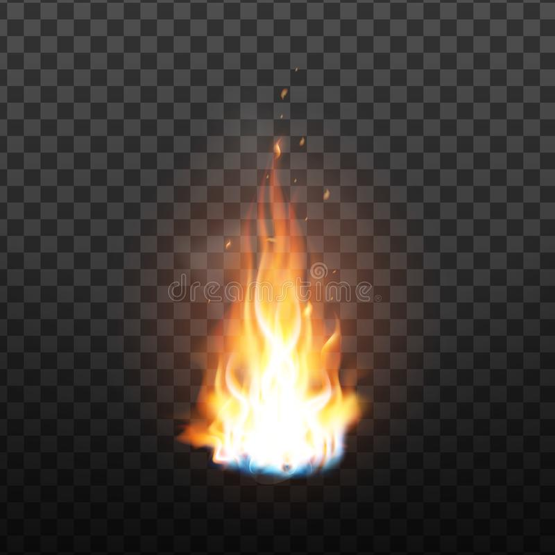 Animation Burning Fire With Sparks Effect Vector vector illustration
