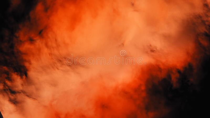 Animation of colored smoke on a black background. Animation. The smoke is rich, vivid color in the space stock photos