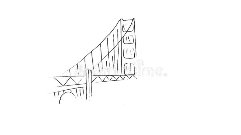 Dessin Du Pont De San Francisco animation de dessin de pont de san francisco banque de vidéos