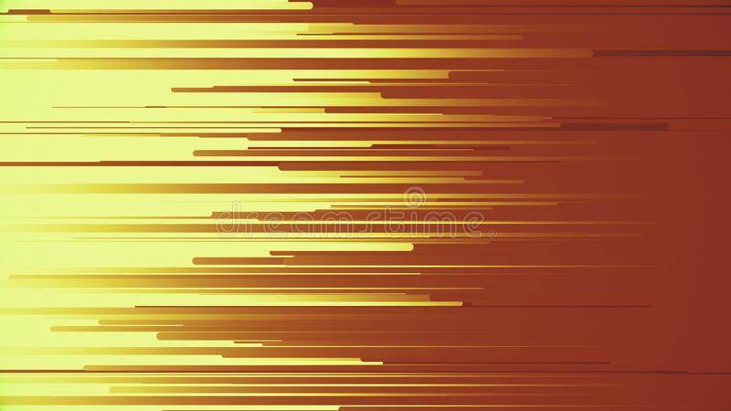 Animation, die helle Streifen und Linien fliegt Abstrakter Hintergrund mit Technologie von Glühenpartikeln Bunte Karikaturfliege stock abbildung