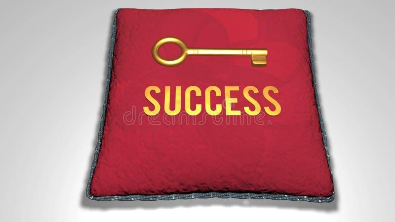 animation du concept de réussite illustration de vecteur