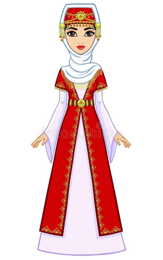 Free Animation East Princess In Ancient Clothes. Full Growth. Stock Photos - 54460463