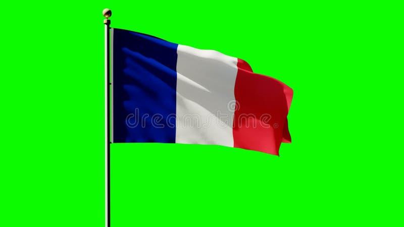 Animation Francaise Du Drapeau 3d Avec Le Fond Vert D Ecran Et De Ciel Clips Videos Video Du Ecran Vert 91128393