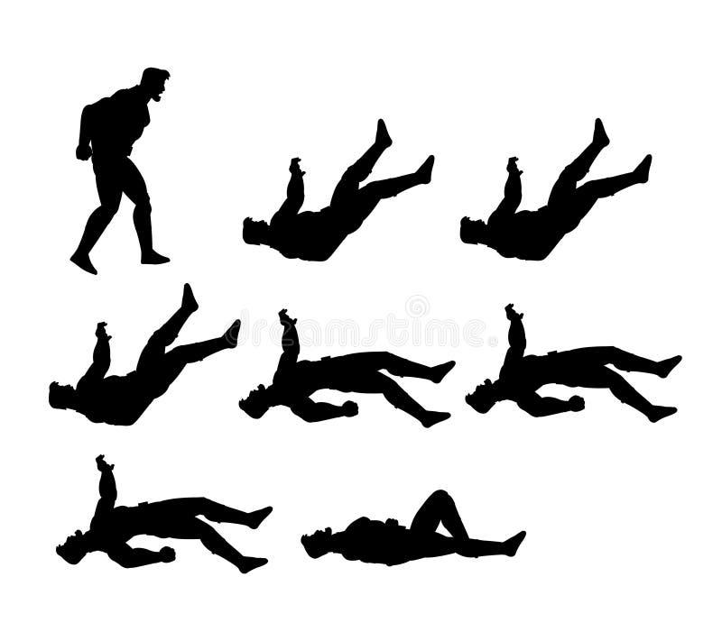 Animation Sprite de silhouette d'homme illustration stock