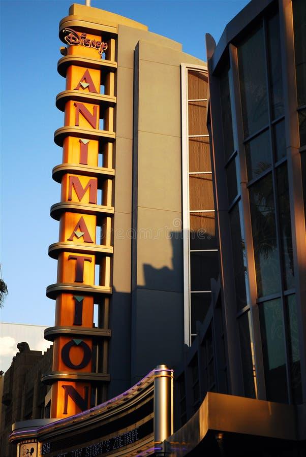 Animation Studio. The Art Deco façade of an animation studio in Disney's California Adventure royalty free stock images