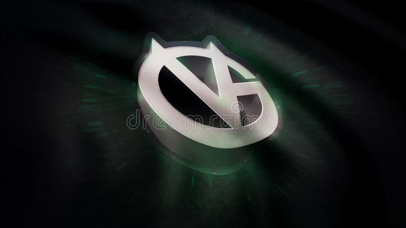 Animation waving flag symbol of professional eSports team Vici Gaming. A world-class cyber sports team. Editorial use. Only stock photography