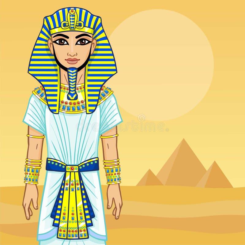Animations-Ägypter-Pharao lizenzfreie abbildung