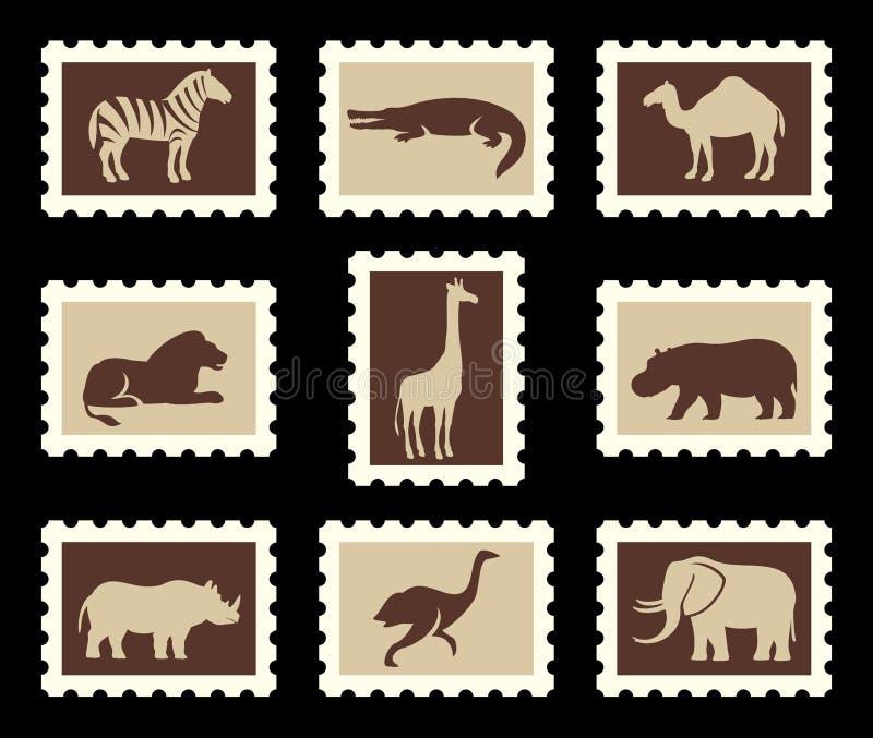 Animaux africains réglés illustration de vecteur