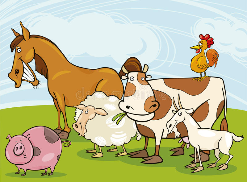 Animaux de ferme illustration stock