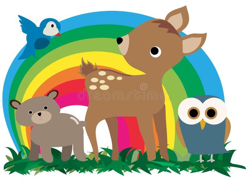 Animaux de forêt illustration de vecteur
