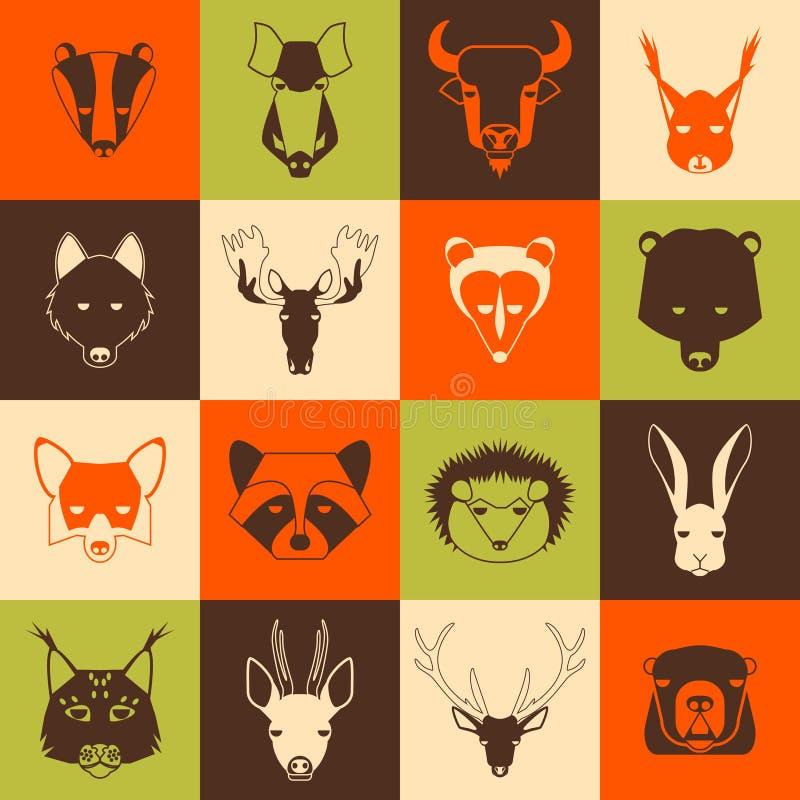 Animaux de forêt illustration libre de droits