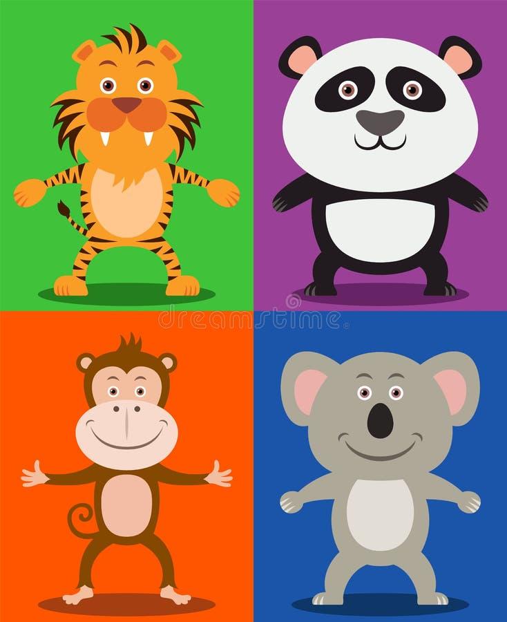 Animaux de jungle illustration libre de droits