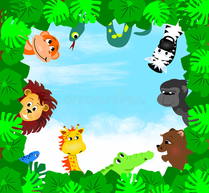 Animaux de jungle illustration stock
