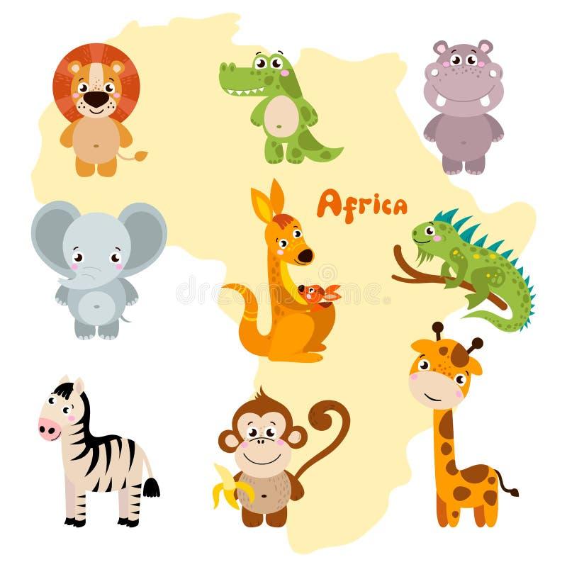 Animaux de l'Afrique illustration de vecteur