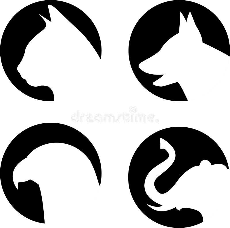 Animaux de logo illustration stock