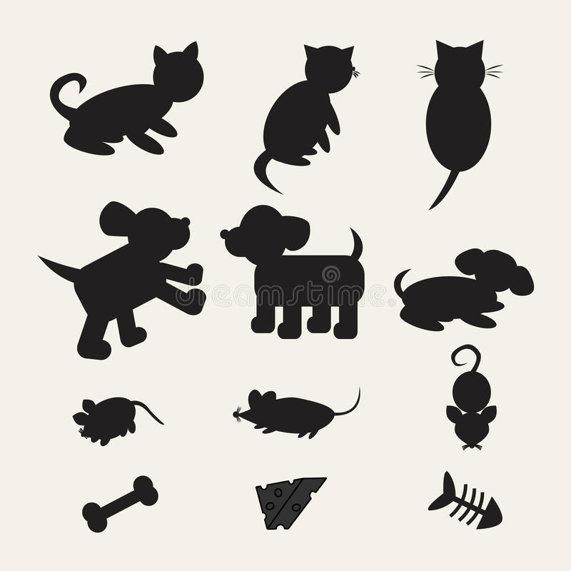 Download Animaux De Mélange De Silhouette Illustration de Vecteur - Illustration du chéri, forever: 56490702