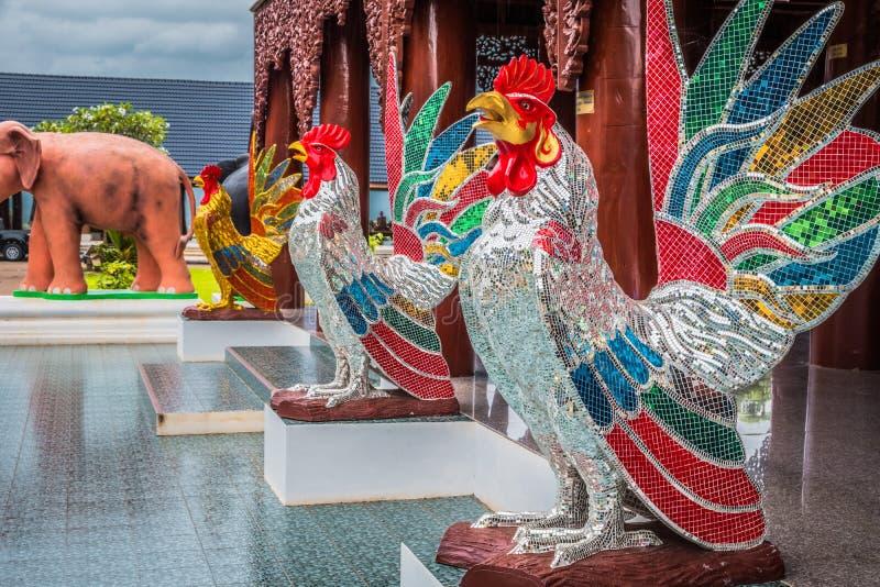 Animaux de statue de mythe en Tha?lande ?Wat Den Salee Sri Muang Gan appel? par temple Wat Ban Den ? images libres de droits