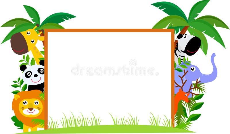 Animaux et bannière illustration stock