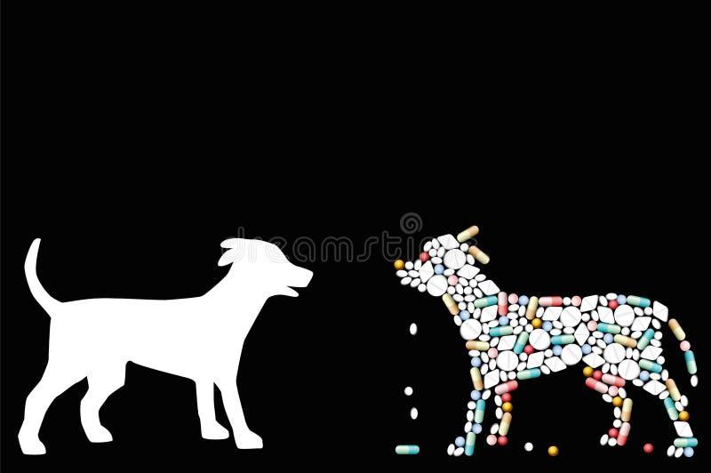 Animaux familiers pharmaceutiques de pilules de chien illustration libre de droits