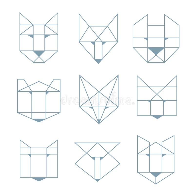 Animaux géométriques illustration libre de droits
