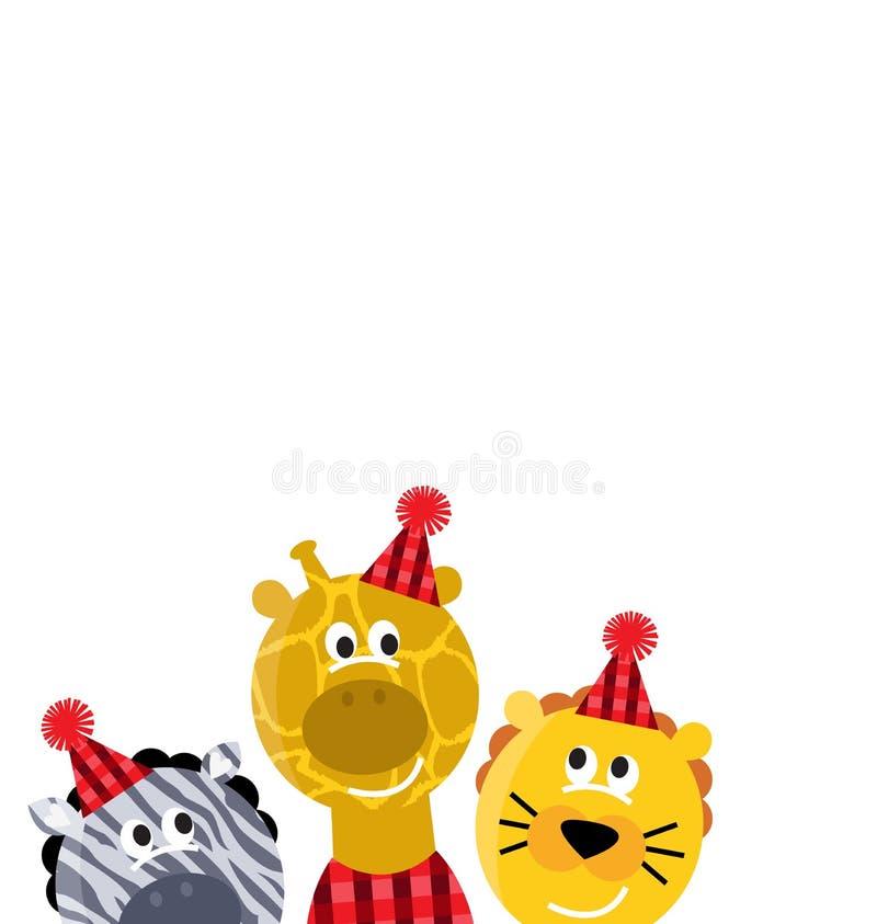 Animaux mignons de Noël de safari illustration libre de droits