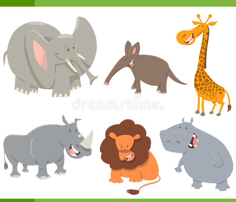 Animaux mignons de safari réglés illustration stock