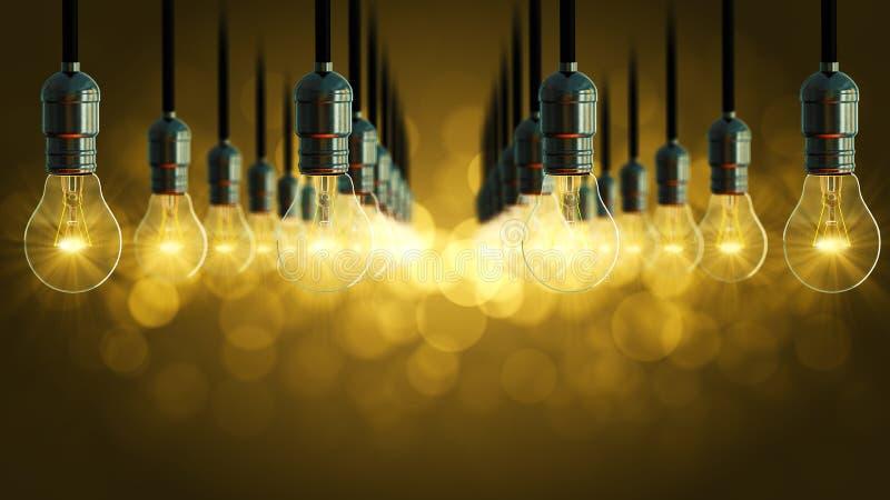 Download Animazione Della Lampadina Aumento Di Incandescenza Dell'oscillazione Immagine Stock - Immagine di idea, progresso: 55357797