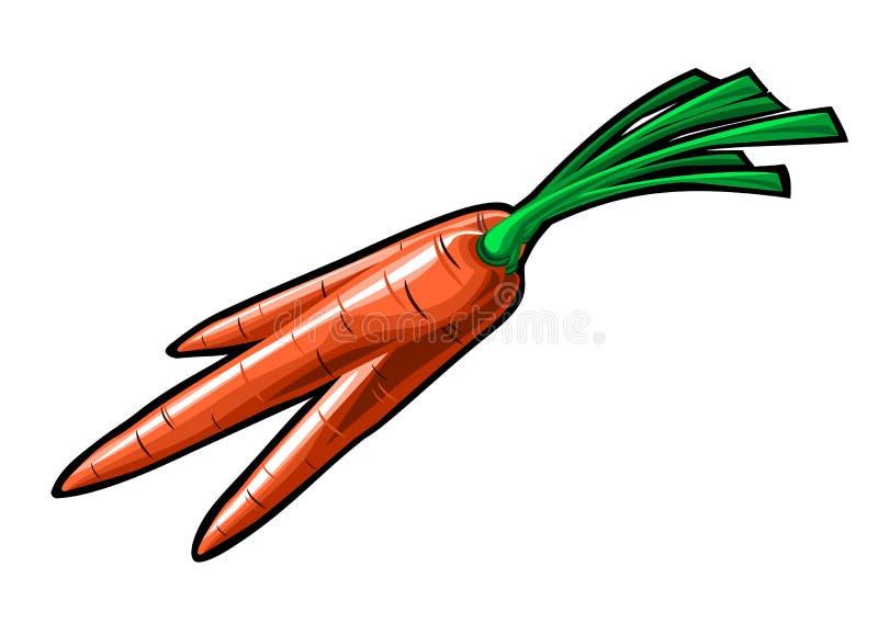 Animazione handmade della carota illustrazione di stock