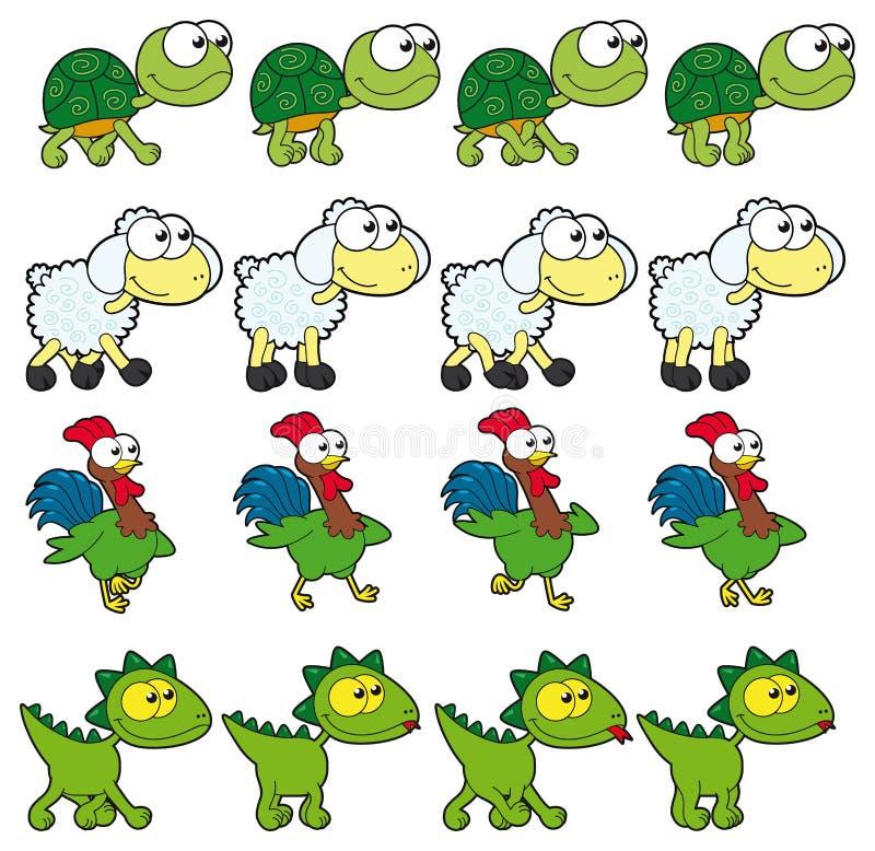 Animazioni ambulanti dell'animale. royalty illustrazione gratis