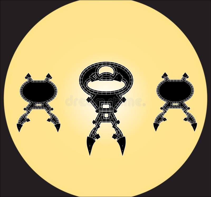 Animazioni del fumetto del robot immagini stock libere da diritti