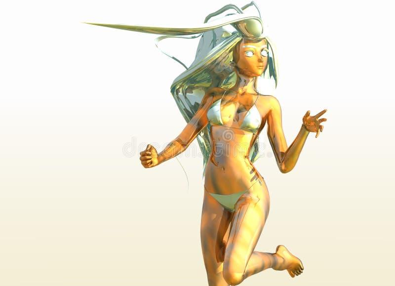 Anime 3 della donna royalty illustrazione gratis