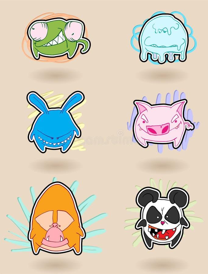 Anime arrabbiato degli animali royalty illustrazione gratis