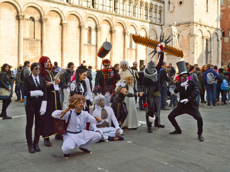 Anime characters at Lucca Comics and Games 2014 royalty free stock photo