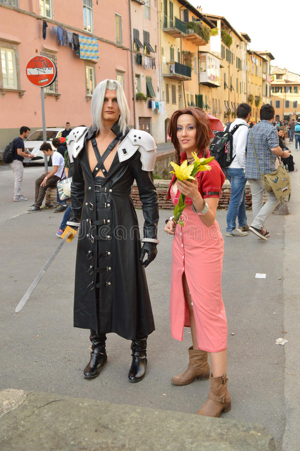 Anime characters at Lucca Comics and Games 2014 royalty free stock photography