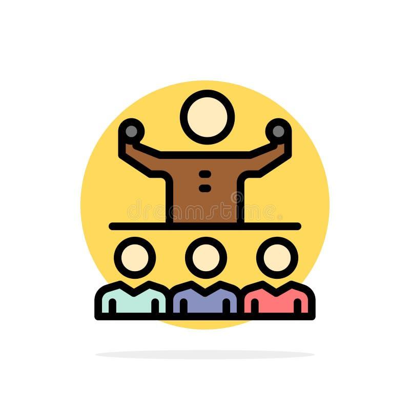 Anime, crecimiento, mentor, Mentorship, icono del color de Team Abstract Circle Background Flat ilustración del vector