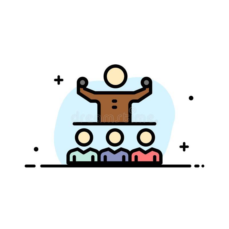 Anime, crecimiento, mentor, Mentorship, plantilla de la bandera del vector del icono de Team Business Flat Line Filled libre illustration