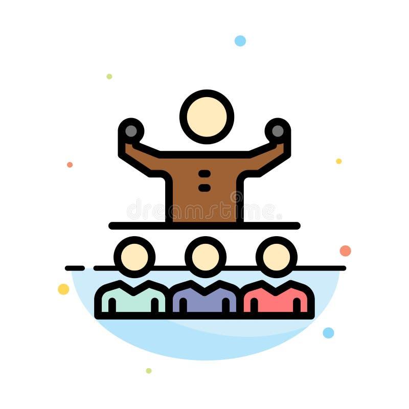 Anime, crecimiento, mentor, Mentorship, plantilla de Team Abstract Flat Color Icon stock de ilustración