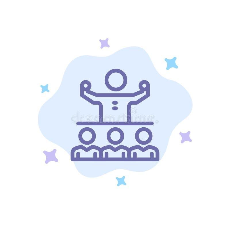 Anime, crecimiento, mentor, Mentorship, Team Blue Icon en fondo abstracto de la nube libre illustration