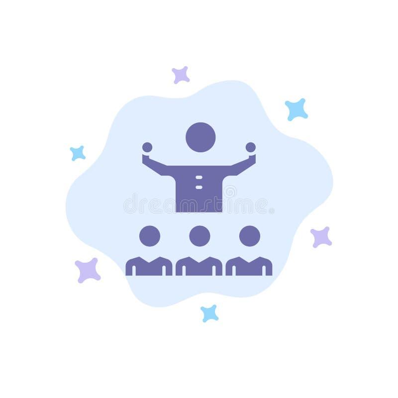 Anime, crecimiento, mentor, Mentorship, Team Blue Icon en fondo abstracto de la nube ilustración del vector