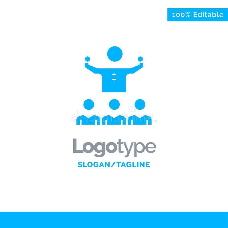 Anime, crecimiento, mentor, Mentorship, Team Blue Solid Logo Template Lugar para el Tagline libre illustration