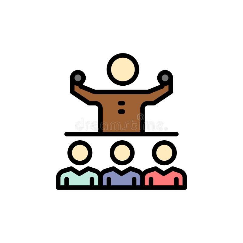 Anime, crecimiento, mentor, Mentorship, Team Flat Color Icon Plantilla de la bandera del icono del vector libre illustration