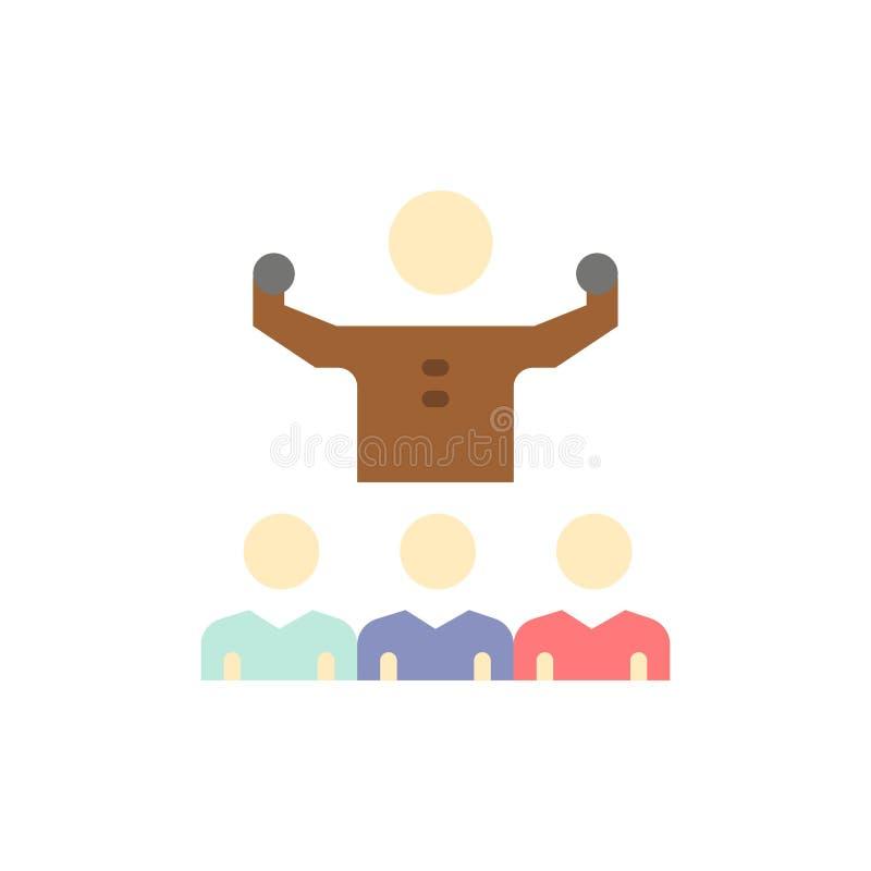 Anime, crecimiento, mentor, Mentorship, Team Flat Color Icon Plantilla de la bandera del icono del vector stock de ilustración