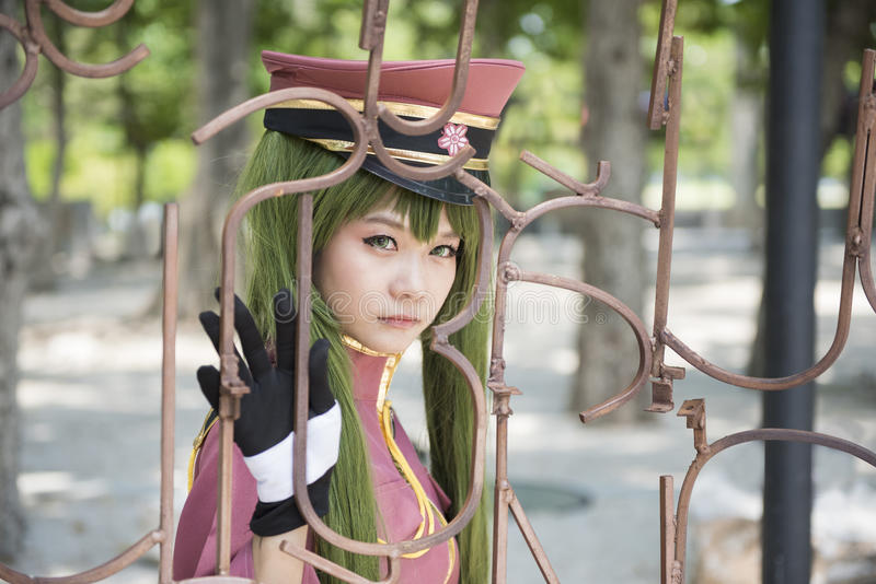 Anime de Japão cosplay ilustração royalty free